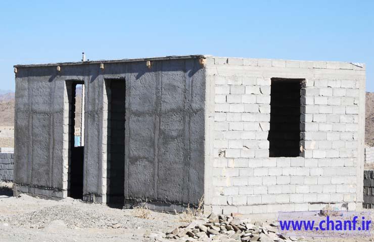 خانه های احداثی بنیاد مسکن نیکشهر-چانف