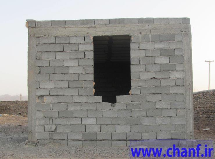 دهستان چانف بخش لاشار - شهرستان نیکشهر- خانه های بنیاد مسکن نیکشهر