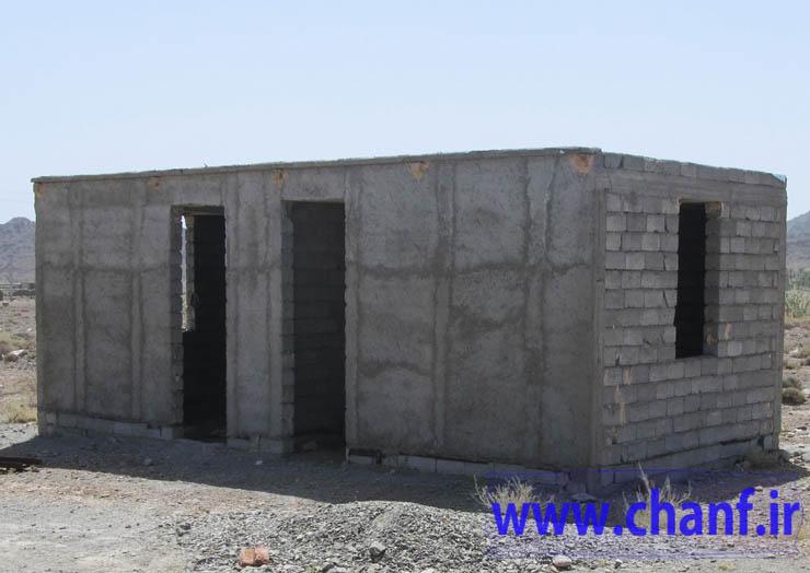 خانه های احداثی بنیاد مسکن نیکشهر-دهستان چانف
