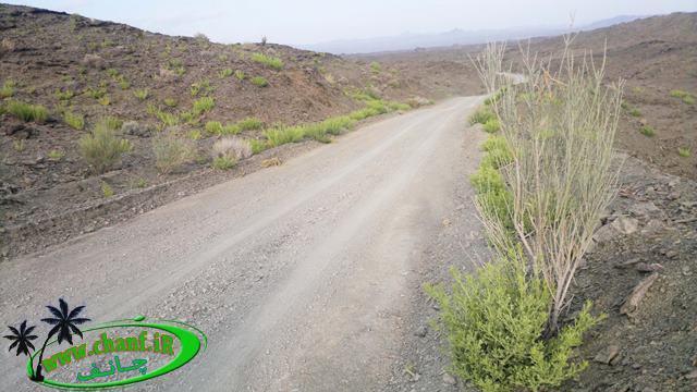 جاده خاکی مسیر معدن